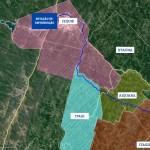 Mapa - 1º fase duto de distribuição Sudoeste